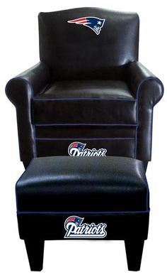 New England Patriots Game Time Chair and Ottoman - Top Seller!