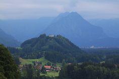 Blick vom Malerwinkel auf den Hauptkamm der Allgäuer Alpen, Oberstdorf und Fischen  Oberallgäu