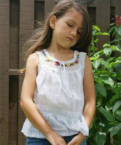 Look at this #zulilyfind! White Luz Floral Knit Top - Infant, Toddler & Girls #zulilyfinds