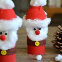 {DiY} Weihnachtsmann Retrieval Version in Kartonrolle ! - Kid Crafts, Hand and Foot - Kids Crafts, Christmas Crafts For Kids To Make, Thanksgiving Crafts For Kids, Preschool Crafts, Simple Christmas, Kids Christmas, Diy For Kids, Christmas Paper, Christmas Popcorn