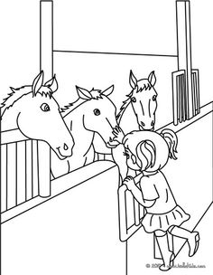 Horses In Stable Coloring Page If You Like This Share It With Your Friends They Will Love These Sheets From
