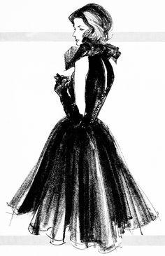 Kenneth Paul Block Illustraiton for Bonwit Teller