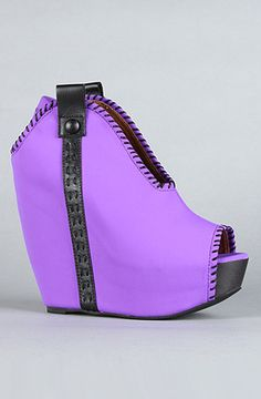 Jeffrey Campbell The Kelsey Shoe in Purple and Black Neon : http://www.karmaloop.com/product/The-Kelsey-Shoe-in-Purple-and-Black-Neon/239674