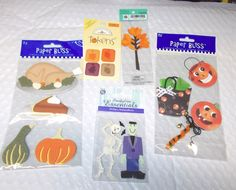 Paper Bliss Fall Halloween Stickers lot embellishments Dimensional tree Spooky #PaperBliss #Dimensional