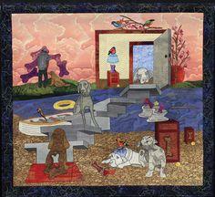 """""""Furrealism"""" by Pauline Salzman.  NQA 2013 Quilt Show Winner"""
