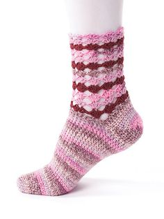 If you love crocheting socks, you will love this book. Included are 12 patterns, all using Premier® Yarns Deborah Norville Serenity Sock and Serenity Garden Sock yarns. A variety of techniques such as