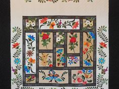In The Garden Quilt -- wonderful well made Amish Quilts from Lancaster (hs7403)