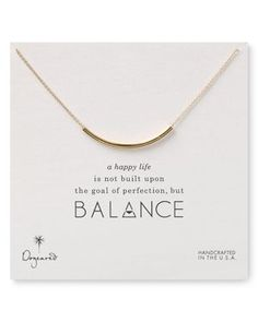 Dogeared Balance Tube Necklace, 18