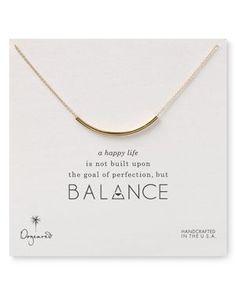 Dogeared Balance Tube Necklace, 18