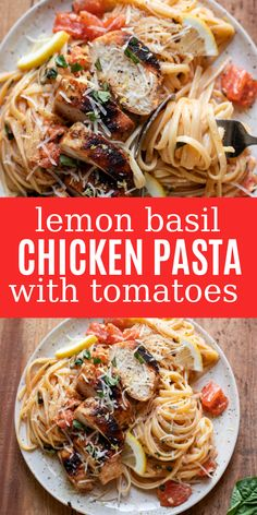 Lemon Basil Chicken Pasta Easy And Delicious Family Friendly Recipes Arizona Modern Crumb Chicken Basil Pasta, Lemon Basil Chicken, Lemon Pasta, Chicken Noodles, Pasta With Chicken, Chicken Pasta Dishes, Healthy Chicken Pasta, Buttermilk Chicken, Honey Garlic Chicken