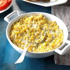 Creamed Corn Recipe -Five ingredients are all you'll need for my popular dinner accompaniment. It's wonderful no matter what the occasion is. Try it on a barbecue buffet or holiday menu. —Barbara Brizendine, Harrisonville, Missouri