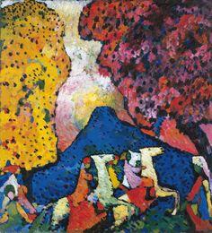 Wassily Kandinsky - The Blue Mountain (Der blaue Berg), 1908-09, oil on canvas