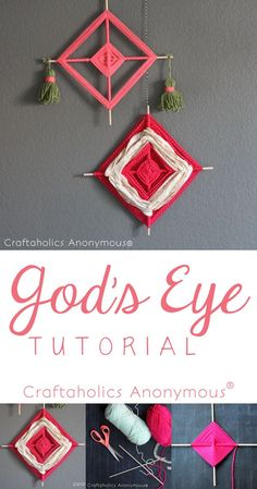 How to Make God's Eye Tutorial. Great craft for kids to do!