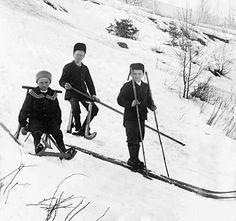 Boys on sled