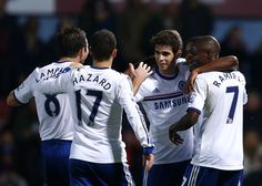 Frank Lampard, Eden Hazard, Oscar and Ramires. West Ham 0-3 Chelsea. Premier League. Saturday, November 23, 2013.