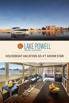 The Axiom Star Luxury Houseboat is a state-of-the-art vessel, providing you with amenities & technology to have a comfortable & memorable Lake Powell houseboat vacation experience.