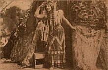 Still from the 1910 silent film Pocahontas.  The film is lost.