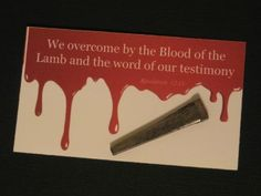 Overcome by the Blood of the Lamb   Palanca Agape Idea