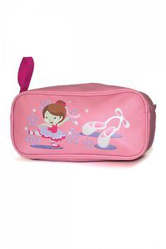 569a673a15753 Children's pink ballet shoe bag with cute ballerina and pointe shoe design  - Roch Valley LITTLEC