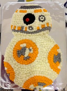 For number ones son's 8th birthday - a BB8 cake!