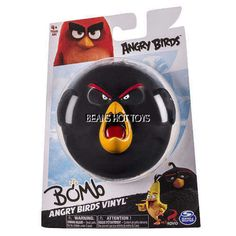 Angry Birds Vinyl Figure * BOMB * Bounce Squeeze Throw Ball NEW 2016 #SpinMaster
