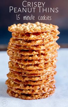 These peanut thins are one of the first biscuits I learnt to make. They are super thin, making them wonderfully crispy and so unlike a normal peanut cookie. But they are melt in the mouth delicious. Peanut Cookies, Crispy Cookies, Sprinkle Cookies, No Bake Cookies, Yummy Cookies, Lace Cookies, Baking Cookies, Almond Cookies, Peanut Recipes