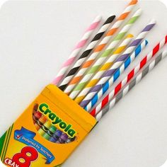 a must have at an art themed party , colored stripe straws