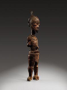 Figure of a leopard chief: Ilunga Mukulu Date: 19th–early 20th century Geography: Democratic Republic of the Congo, Western Kasai Culture: Luluwa peoples, Bakwa Ndolo, Bumba Medium: Wood Dimensions: H.: 26 3/8 in. (67 cm)