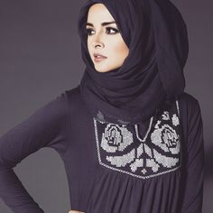 Embroidered Edit   Cross Stitch Rose Abaya Code: W14OCCSR   Chiffon Chic Midnight Blue Hijab Code: HJMBCC   www.aabcollection.com  #AabCollection #EmbroideredEdit #CrossStitch #HijabFashion #HijabVogue #Abaya #AbayaChic #InstaFashion