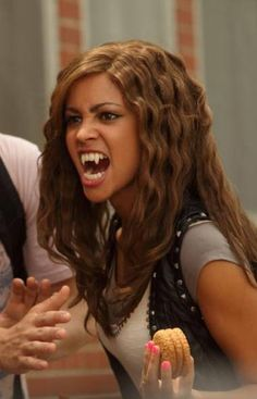 My Babysitters a Vampire - Sarah my face when someone tries to take my cookie
