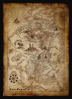Map of Aman   Aman, the Blessed Realm, was a continent that lay to the west of Middle-earth, across the great ocean Belegaer. It was the home of the Valar, and three kindreds of Elves: the Vanyar, some of the Noldor, and some of the Teleri. The island of Tol Eressëa was located just off the eastern shore   by amegusa.deviantart.com on @deviantART
