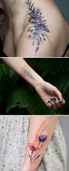 Botanical tattoos