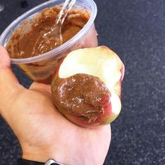 Today's post workout in was 2 of these red delicious apples topped with some of my low fat chocolate cinnamon peanut butter   Macros for both apples and the peanut butter topping: 206 cals, 42g carbs, 3g fat, 10g protein  Quick and easy portable post workout that I can whip up with some water and take down before the afternoon sessions start   The recipe is just 24g pb2, 4g chocolate sugar free/fat free pudding mix, 2g stevia, 1g ground cinnamon, and water till you get the consist ...