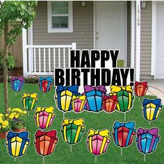 28 Best Birthday Lawn Signs Images