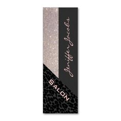 Elegant chic luxury contemporary leopard glittery business card templates. I love this design! It is available for customization or ready to buy as is. All you need is to add your business info to this template then place the order. It will ship within 24 hours. Just click the image to make your own!