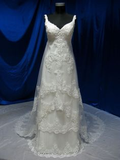 Wedding Dress with Straps Vintage Inspired by WeddingDressFantasy, $689.00