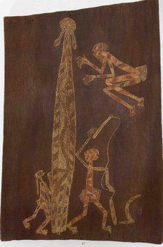 NGAINJMIRRA bark painting of traditional ceremony