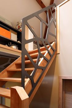 Staircase ideas - design and layout ideas to inspire your own staircase remodel, painted diy, decorating basement remodel pictures - Modern staircase ideas Interior Stairs, Interior Architecture, Interior Design, Basement Ceiling Options, Ceiling Ideas, Basement Ideas, Escalier Design, Staircase Remodel, Staircase Design