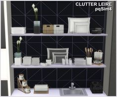"Sims 4 CC's - The Best: Clutter Kitchen ""Leire"" by pqSim4"