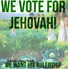 Absolutely and positively, yes! We vote for Jehovah! We want his Rulership. Psalm 133, Jw Humor, Everlasting Life, Spiritual Thoughts, Bible Knowledge, Bible Truth, Jehovah's Witnesses, Gods Promises, Happy People