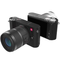 "YI M1 Mirrorless Digital Camera 4k/30fps 3.0"" LCD 20MP Video Recorder WIFI BT 81 AF Points 720RGB H.264 International Edition //Price: $342.93//     #Gadget"