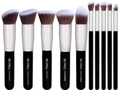A set of synthetic makeup brushes that'll spruce up your kit.