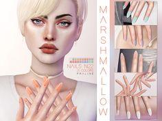 Marshmallow Nails N22 by Pralinesims at TSR