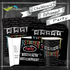 Chalkboard Retirement Party Theme