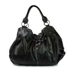 Flower Accent Handbag - Black $25.50