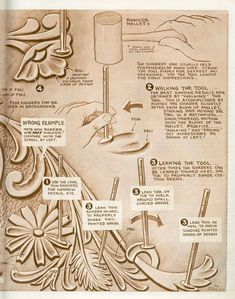 Leather working tips