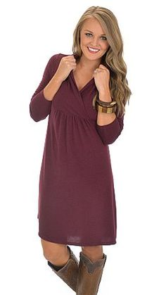 Days That End in Y Dress, Wine :: NEW ARRIVALS :: The Blue Door Boutique