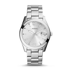 Perfect Boyfriend Three-Hand Date Stainless Steel Watch   Fossil   ---Birthday? Christmas? If only I had a bf to buy me the Perfect Boyfriend watch...next gift to me from me! :)