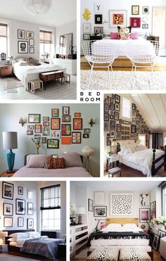 Gallery wall inspiration bedroom