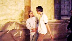 Claire Danes and Leonardo DiCaprio behind the scenes Romeo+Juliet
